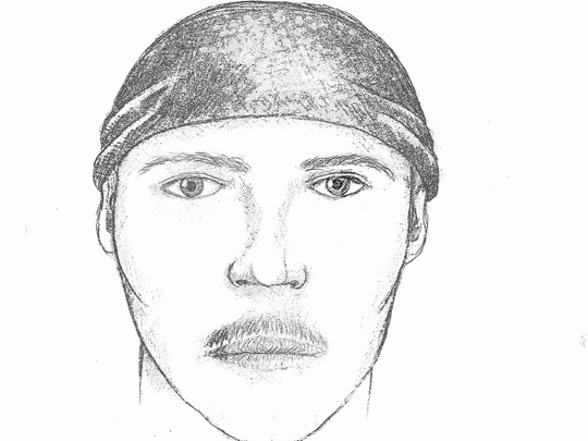 A sketch of the shooter described by witnesses to Stephone
