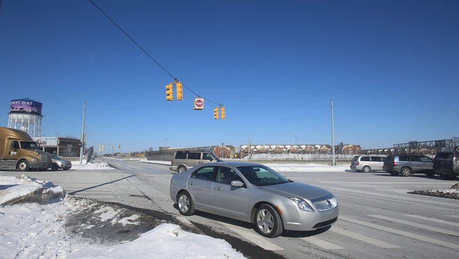 This is the southern corner of Woodward and I-696 in Pleasant Ridge just before Royal Oak. Photographed Sunday, Feb. 15, 2015.