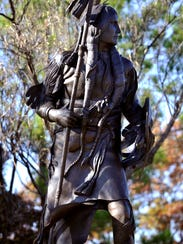 The statue of Quanah Parker at Western Texas College