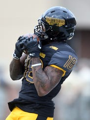 Southern Miss wide receiver Korey Robertson makes a