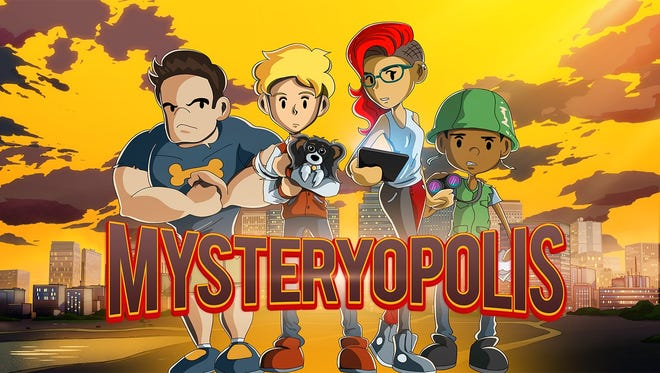 Promotional art for the new animated series 'Mysteryopolis.'