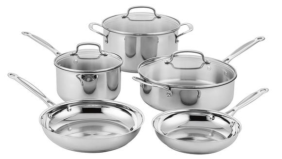 Enjoy the beauty of stainless cookware for $100