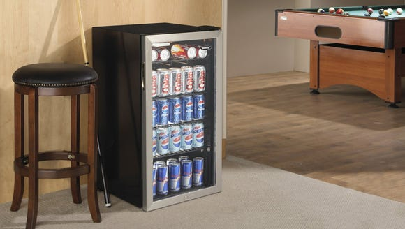 This mini fridge makes it easy to stay cool all summer.