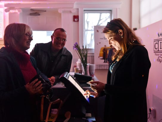Small Star Art House owner Patti Stirk chats with Marge