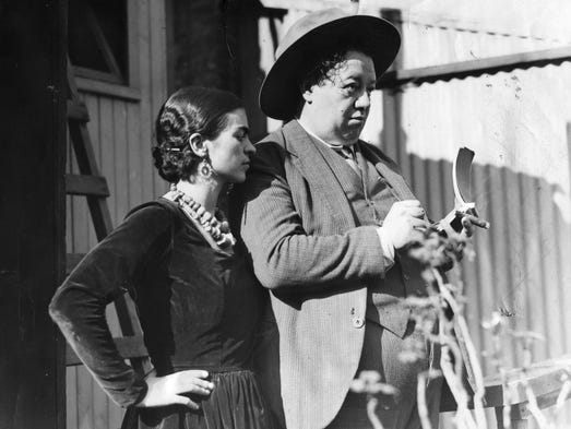 Frida Kahlo  and Diego Rivera are seen on Nov. 20,