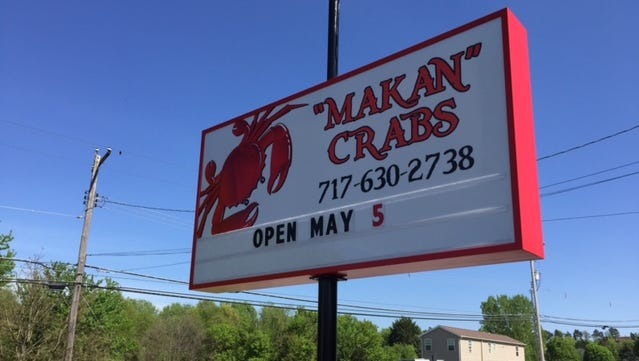 MAKAN Crabs, located on Baltimore Street in West Manheim Township, will open on May 5.
