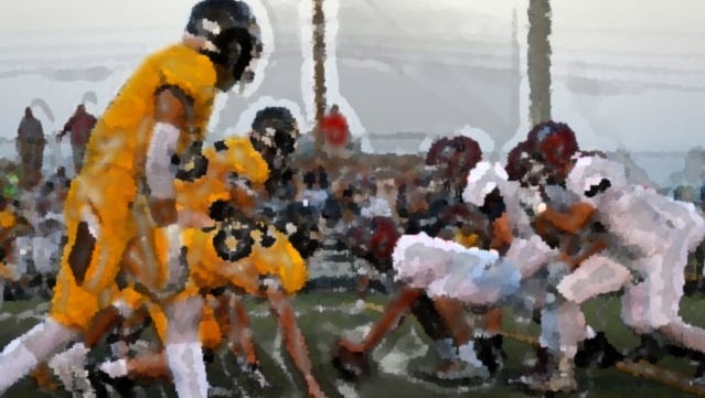 A photo illustration of Kickapoo taking on Joplin.
