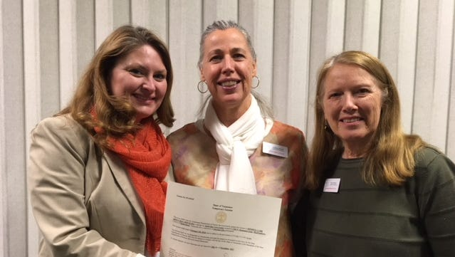 Mindful Care has been granted state licensure for the services it offers. Pictured, from left, are program director Jamie Watters, program assistant Audrey Bolek, and Tina O'Brien, Mindful Care's founder and executive director.
