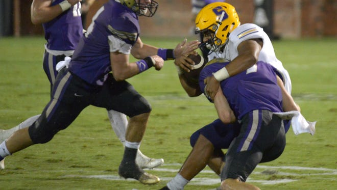 The Christ Presbyterian Academy Lions shut out the Smyrna Bulldogs on Friday night at CPA, ending the soggy contest 28-0. The school donated the game's proceeds to support victims of Hurricane Harvey.