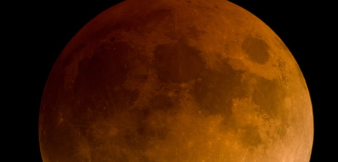 A total lunar eclipse is seen on Feb. 20, 2008.
