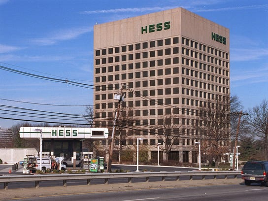 Once a Woodbridge landwmark, the 10-story Hess office building off upper Main Street and Route 9 is under development.
