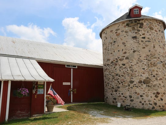 The barn, which no longer holds animals, but memorabilia