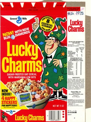 Lucky the Leprechaun got the boot from the Lucky Charms box in 1975.