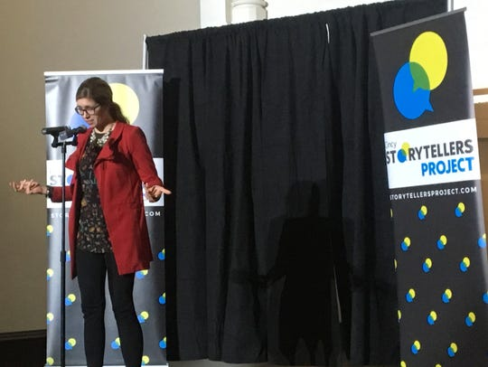 "At the Jan. 22 Cincinnati Storytellers Project at the Transept, Cincinnati job coach Kari Kelly, told a story about how her life began anew when she learned she has Asperger's syndrome. The next event is Feb. 26 on the theme ""Romance ... Or Not."""