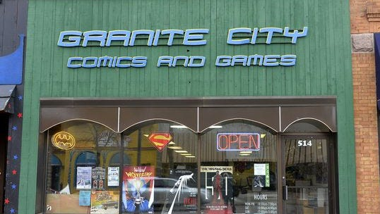 Granite City Comics and Games is participating in Free Comic Book Day.