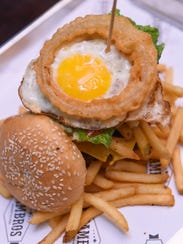 The Eggsplosion Burger at Hambros in Tumon on Nov.