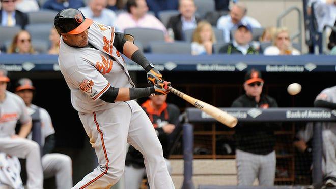 Orioles designated hitter Nelson Cruz