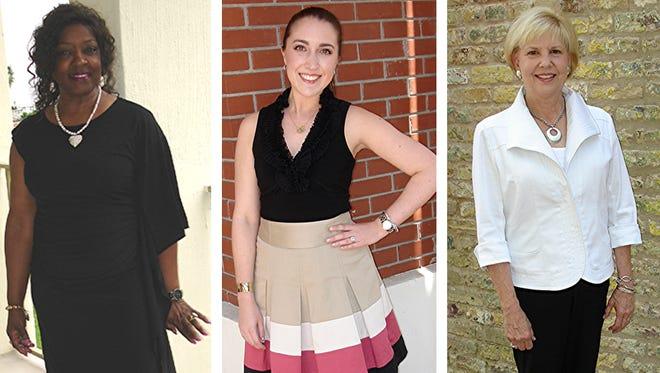 Left: Vivian Snell. Middle: Meagan Stead. Right: Jodee Hart.