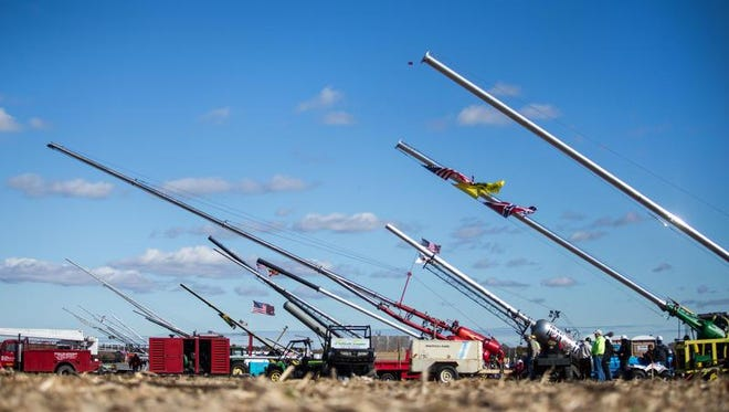 Teams finished up the competition at the Punkin Chunkin on Nov. 3, 2013, near Bridgeville before thousands of spectators.
