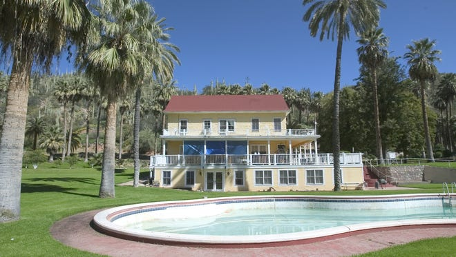 The main house of Castle Hot Springs as seen in  2001, when the resort was closed.