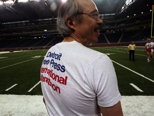 Edward Yee sports a T-shirt from the first Detroit