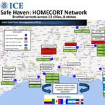 """U.S. Immigration and Customs Enforcement's (ICE) Homeland Security Investigations (HSI) arrested 29 people in 13 cities and eight states Thursday on sex trafficking and related charges in a sweeping operation dubbed """"Operation Safe Haven"""""""