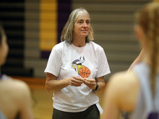 North Kitsap High School girls basketball coach Penny Gienger led Bainbridge to a state title in 1999.