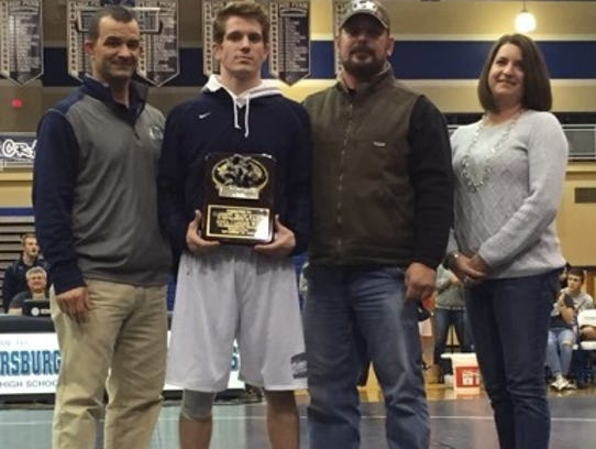 Chambersburg senior Garrett Kyner was honored for winning