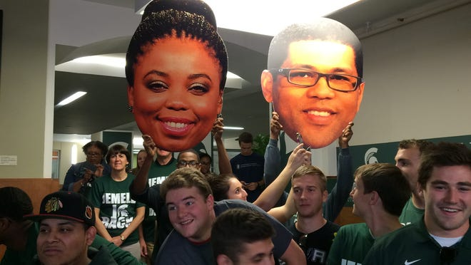 "Michigan State fans attend an episode of ESPN's ""Numbers Never Lie."""