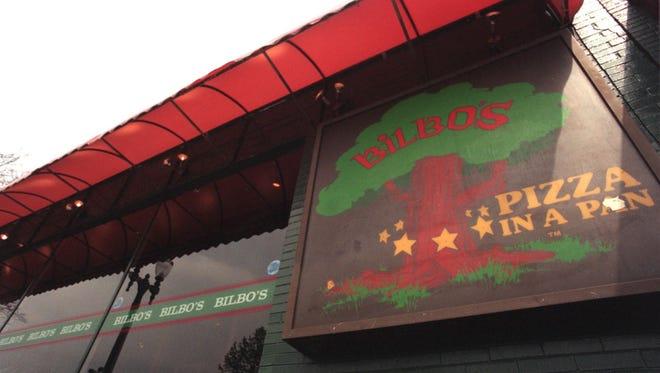 Exterior view of Bilbo's, 213 Ann St., in East Lansing, 1999.