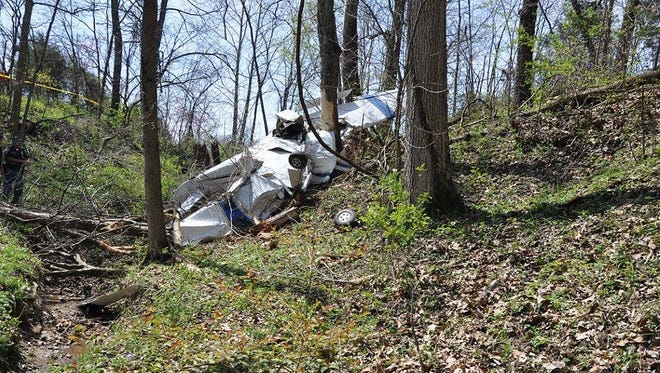 A small plane crashed Wednesday, April 12, 2017, in Hartsville, Ind. The pilot was killed in the crash.