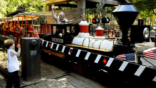 This 2008 photo shows the train at Binder Park Zoo.