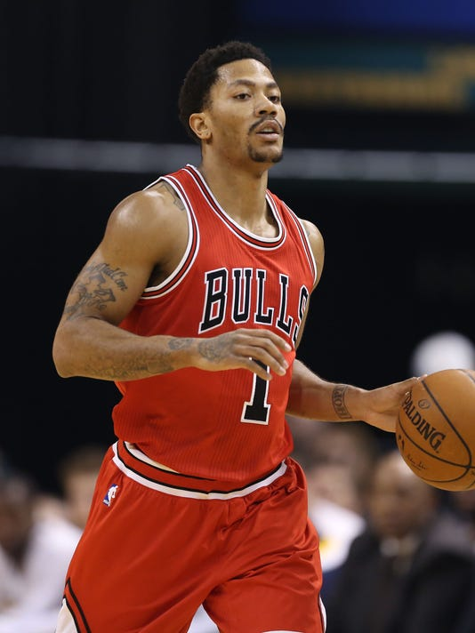 76c6c8e4a0c NBA  Chicago Bulls at Indiana Pacers. Bulls guard Derrick Rose ...