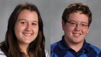 Abigail Malme and Josh Denis of Northeastern Wisconsin Lutheran High School.