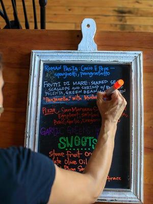 Specials menu at Fiorella