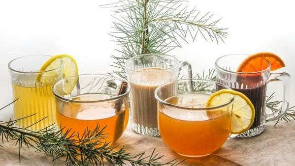 A selection of warm cocktails suitable for holiday entertaining.