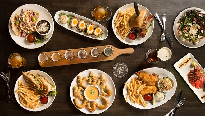 A variety of dishes and appetizers offered at Thirsty Lion SanTan.