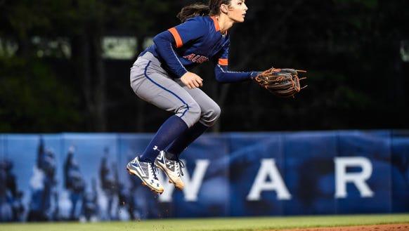 Casey McCrackin (11). Auburn Softball vs Troy on Wednesday,