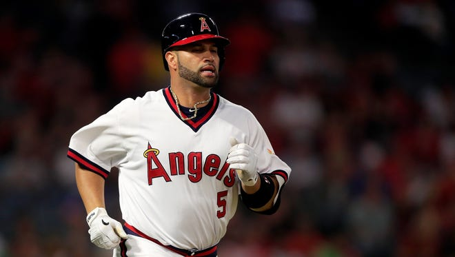 Albert Pujols is sixth in baseball history with 633 career homers after passing Ken Griffey Jr. last month.