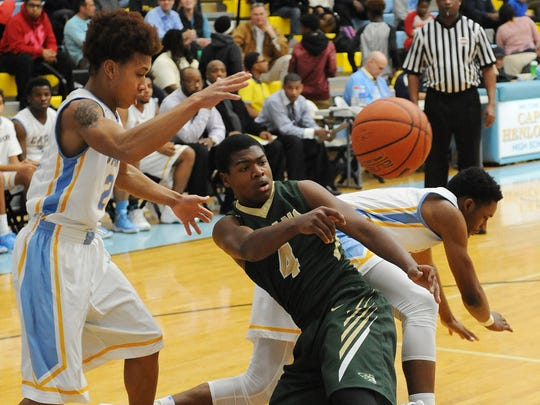 In this file photo, IR's Jamier Felton moves the ball against Cape Henlopen.