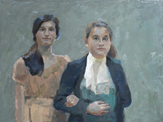 "Morgan Ogilvie, ""Couple,"" oil on canvas, 30x40 inches,"
