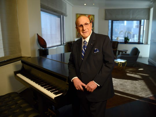 """Recording industry legend Clive Davis photoraphed at his home in NYC. The music industry veteran sits down for a Q and A with Jacob Burns Film Center Board President Janet Maslin after a screening of the documentary, """"Clive Davis: The Soundtrack of Our Lives."""""""