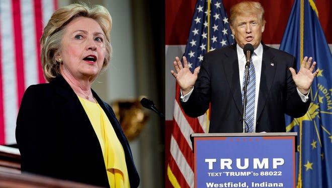 Hillary Clinton, left, and Donald Trump