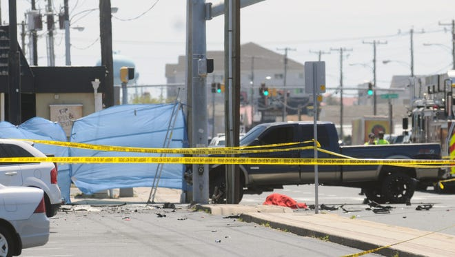 The scene of a fatal crash on 28th Street and Coastal Highway in Ocean City on Thursday, May 19.