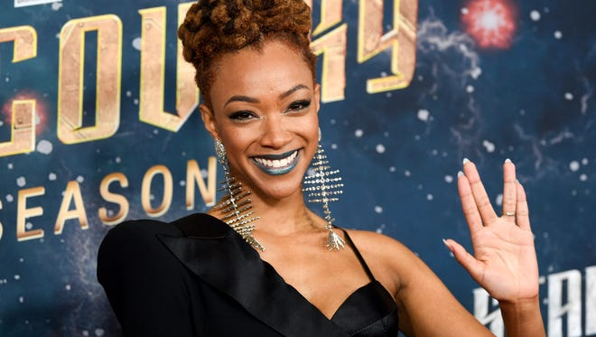 """Actor Sonequa Martin-Green attends the """"Star Trek: Discovery"""" season two premiere at the Conrad New York on Jan. 17, 2019, in New York."""