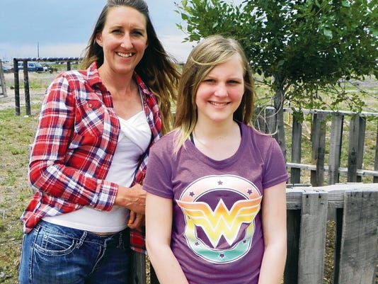 Emma Harrington, 12, and her mother Amanda Harrington left for Texas Wednesday to begin Emma's treatment process for Complex Regional Pain Syndrome. She was diagnosed with CRPS in January. An anonymous donation received Monday will cover the cost of the treatment, which isn't covered by the family's insurance.