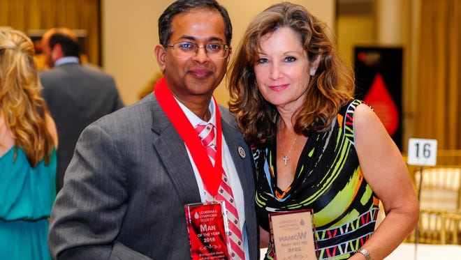 Ramesh Kolluru and Kris Wartelle named Man and Woman of the Year for The Leukemia and Lymphoma Society Grand Finale Gala. This years gala set a new record raising more than $269,000.