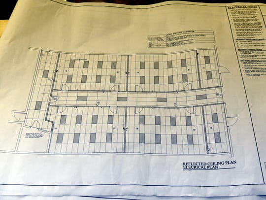 An electrical plan details the renovation of the Foxfire