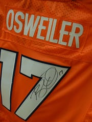 Brock Osweiler, a Kalispell native, signed the jersey