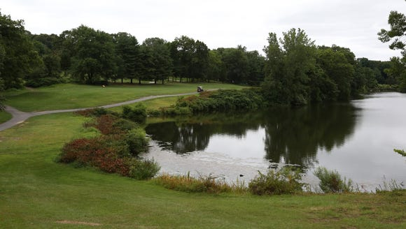 The 12th hole, which was closed for construction, at
